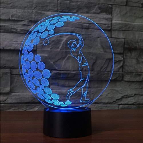 Mbambm 3D Led 7 Farben Ändern Spiel Golf Schaukel Form Tischlampe Schlaf Nachtlichter Usb Touch Switch Beleuchtung Für Golf Enthusiasten Geschenke