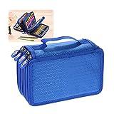 Aibecy Multifunzione Grande Capacità pittura cosmetica Matita Pen Brush Bag Box Case 4 strato Zipper 72 Supporto con maniglia di trasporto