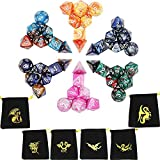 Temon Dadi da gioco, Dadi poliedrici a doppio colore per RPG Dungeons and Dragons Pathfinder, DND MTG RPG (42 pezzi)