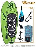 Aufblasbar Stand up Paddle Drop Stitch Ein Lage Wattsup GUPPY 9' - 275x76x12cm