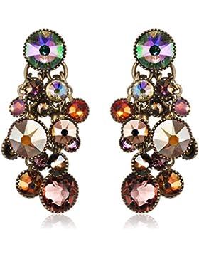 Konplott Damen-Ohrhänger Waterfalls Messing Glas mehrfarbig - 5450543300719