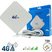 4G LTE Antena TS9 Conector Amplificador de Señal Exterior Receptor 35dbi Alto Ganancia de Red de Larga Distancia Ethernet para Huawei E5372 E398 E392 E3272 E8278 R212 MF93 R215 MSVII® TX80002
