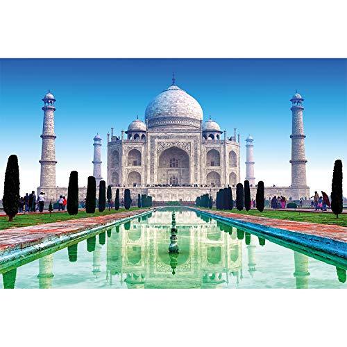 GREAT ART XXL Poster - Taj Mahal - Wanddekoration Sehenswürdigkeiten Must See Deko Marmor Denkmal Grabmal India Garten Wandbild Indien Motiv (140 x 100 cm)