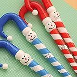 Slri SIridescentZB 4 Pz Pupazzo di Neve di Natale Ombrello Cane Penna a Sfera Cancelleria Regalo di Ornamento di Natale Colore Casuale