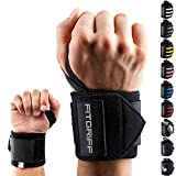 """Fitgriff® Wrist Wraps 18"""" - Wrist Support for Gym, Weightlifting, Crossfit, Strength Training, Fitness - for Men and Women - Black"""