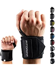Fitgriff® Handgelenk Bandagen [Wrist Wraps] 45cm Handgelenkbandage für Fitness, Bodybuilding, Kraftsport & Crossfit - für Frauen und Männer