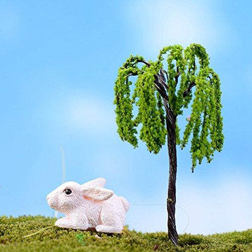 zrshygs Blumentopf Dekorationen Mini Baum Pflanzen Miniatur Fee DIY Haus Puppenhaus Garten Micro Bonsai Decor (Sauna Diy)