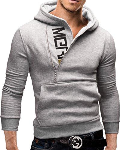 Merish-Felpa-con-Cappuccio-Uomo-Slim-Fit-Sweatshirt-08-Grigio-S