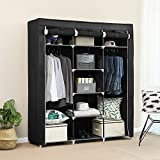 #10: Inditradition European Pattern Multipurpose Cloth Storage Wardrobe Almirah, 3 Sections | Foldable Cabinet, Closet & Cloth Organizer | 5.75 Feet Height (Grey Color)