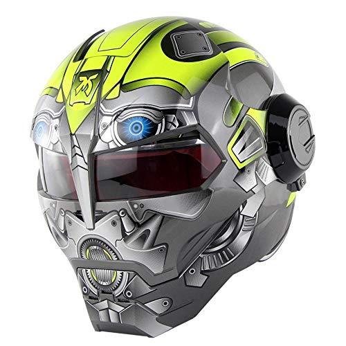 QWE Casco Moto D.O.T Casco máscara Abierta diseño