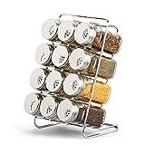 sheng Barattolo di vetro a fritta, vaso magnetico rotante da 12 pezzi con ripiani (rotondo)