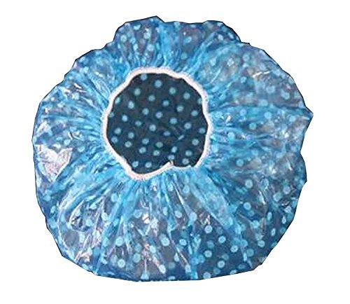 Ensemble de 40 boutons de cheveux jetables Fun Point, une taille plus [Bleu]