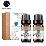 2 bouteilles d'huile essentielle de bois de santal 100% pure huile d'aromathérapie...
