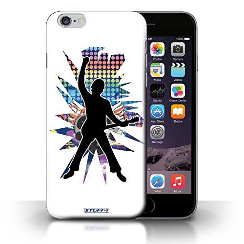 KOBALT® Hülle Case für iPhone 6+/Plus 5.5 | Windmill Schwarz Entwurf | Rock Star Pose Kollektion Windmill Weiß