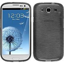 Funda de silicona para Samsung Galaxy S3 Neo - brushed plata - Cover PhoneNatic Cubierta + protector de pantalla