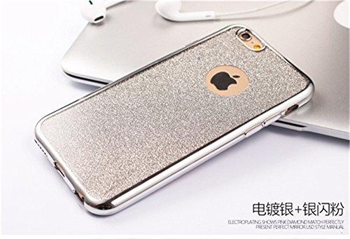iPhone 6Coque de protection, iPhone 6s Motif Coque en TPU, CE iPhone 6S Coque Bling, iPhone 6Coque en silicone, iPhone 6s 11,9cm Paillettes Bling TPU souple pour iPhone 6, iPhone 6s Or Poudre Coque B TPU 4