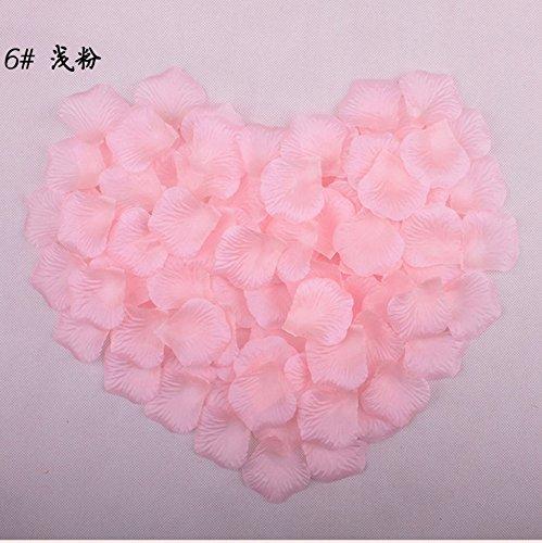 Gudelaa Rosenblätter aus Künstliche Silk Rosenblätter für Hochzeit Party Dekoration, Rosa (2) - Getrocknete Rosa Rosenblätter