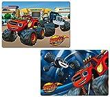 2 Stück Blaze and the Monster Machines 3D Tischunterlage / Platzdeckchen / Malunterlage / Knetunterlage / Eßunterlage
