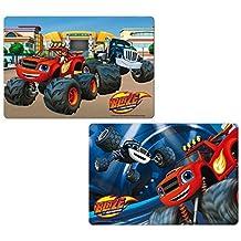 2pieza Blaze and the Monster Machines 3d mesa Base/Manteles individuales/Bringmann–Carpetas de plástico/bajo para amasar Situación/eßunterlage