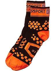 Compressport Pro Racing V2 Run Hi - Calcetines para hombre, color negro / naranja, talla FR : M (Taille Fabricant : T2)