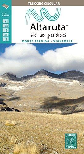 La alta ruta de Los Perdidos. Escala 1:30.000. Mapa excursionsita. Editorial Alpina.