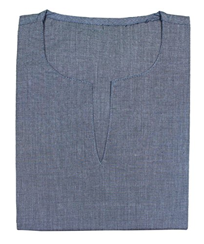 Mens-coton-lourd-v-cou-classique-kurta-t-shirt--manches-longues-yoga