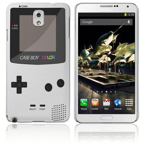 Cell shell ® samsung galaxy note 3 case / cover / custodia / skin rigida in plastica / snap on - disegno bianco retro gameboy