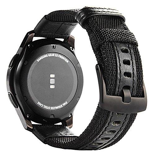 myfei Fashion Gear S3Bands Nylon, S3Frontier Classic Band, 22mm atmungsaktiv Uhrenarmband für Samsung Gear S3Gurt Band Woven Nylon weiche Armbanduhr BANDS