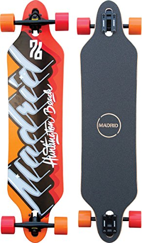 "Madrid Tombstone 38.375"" Drop-Thru Phat Script Longboard, One Size"