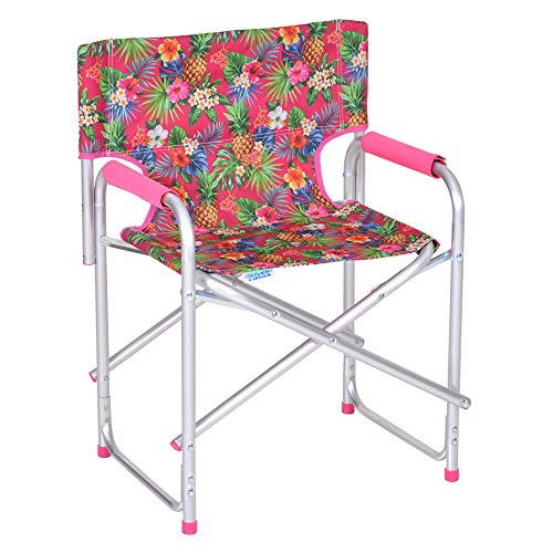 Enrico coveri sedia regista pieghevole in alluminio e comodotessuto, perfetta per giardino, mare, campeggio ed esterno (fuxia)