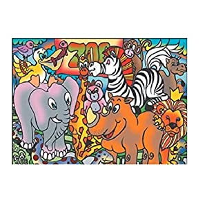 Colorvelvet 37x 28cm Zoo Sistema de Dibujo para Colorear (tamaño Mediano
