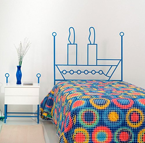 Dfierro i-510.090Forge, Barca, Design per cochón testiera–90cm, Colore: Rosso