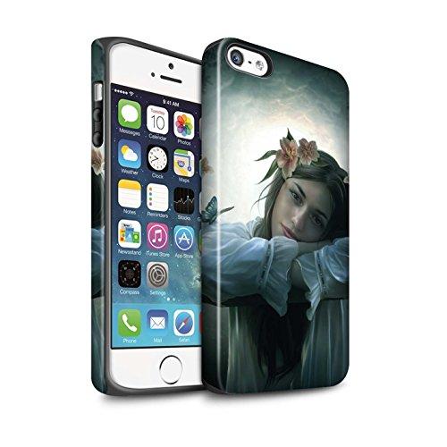 Officiel Elena Dudina Coque / Matte Robuste Antichoc Etui pour Apple iPhone SE / Balançoire Étang Design / Un avec la Nature Collection Rêveur