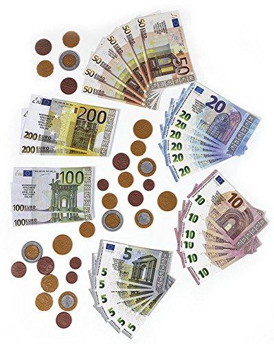 Polly Spielgeld für Kinder Kaufladen | Rechengeld für Spielzeug Kasse| Spielwaren Kaufmannsladen...