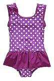 CharmLeaks Baby - Mädchen Einteiler Badeanzug UV-Schutz Violett Mit Pünkte 3-6 Monate