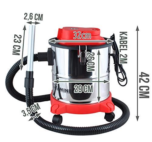Kaminer – Aspiradora de Cenizas Aspirador de Cenizas Filtro Chimenea 20l 1200w Filtro hepa Dual Filtro # 1162