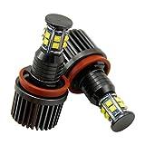 CICMOD 2x 120W High Power LED Angel Eyes Marker Scheinwerfer Standlichtringe (Lichtfarbe: Weiß)