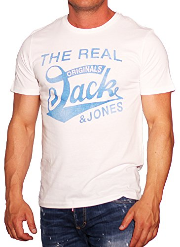 Jack & Jones Herren T-Shirt Cloud Dancer / REG NEU/