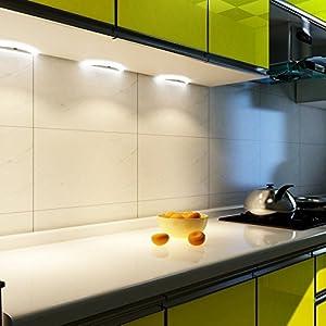 LED Küchenleuchte Sensor SET Unterbauleuchte Küchenlampe Unterbaustrahler, Auswahl:1er Set warmweiss