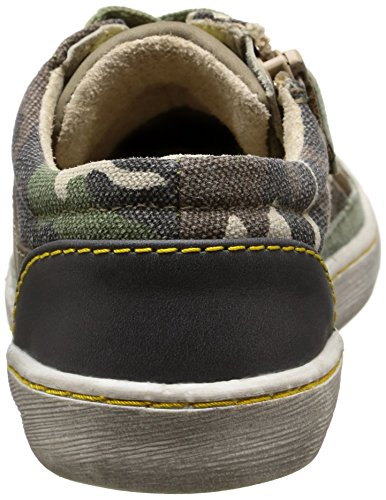 Kickers - Lylian, Scarpe da ginnastica Bambino Vert (Kaki Camouflage)