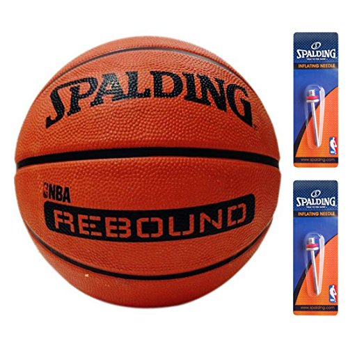 Spalding NBA Rebound Basketball Size 7 (Brick) + 2 Inflating Needles  available at amazon for Rs.699