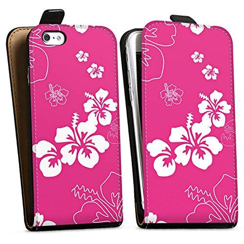 Apple iPhone X Silikon Hülle Case Schutzhülle Blume Flower Muster Downflip Tasche schwarz