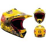 ARROW AKC-49 Yellow · Sport Kids Junior Helmet Enduro Kids Cross-Bike Cross casque pour enfants Pocket-Bike MX · ✔ DOT certifiés ✔ y compris le sac de casque ✔ Jaune · S (53-54cm)