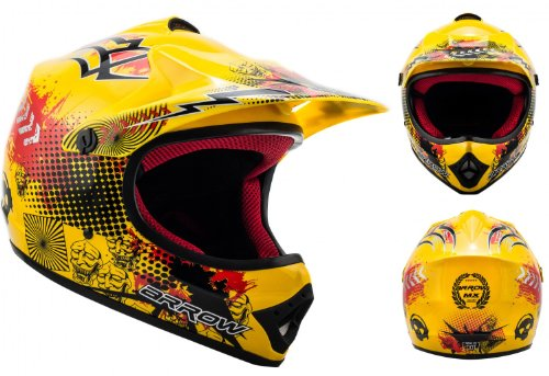 Casco motocross amarillo de Armor