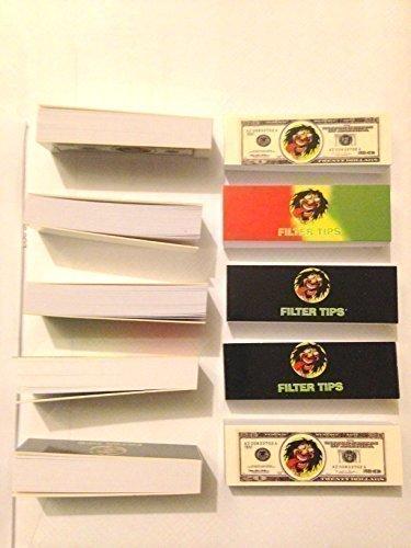 Puntas de Filtro de Colilla de Porro 10 Libros de 500 Puntas de Porro de Cada 50 Puntas de Filtro Rojo Enrollable