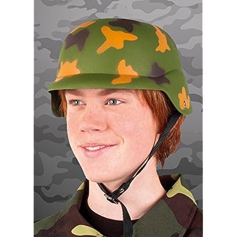Casco del ejército plástico camuflaje verde