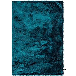 benuta Shaggy Hochflor Whisper Türkis 120x170 cm | Langflor Teppich für Schlafzimmer und Wohnzimmer Tapis Fibres synthétiques, Turquoise, 120 x 170 cm
