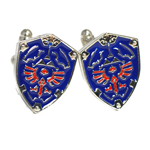 Legend of Zelda Cuff Links - Blue Shield