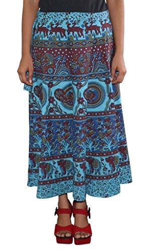 Rajasthani Printed Wrap Around Cotton Skirt
