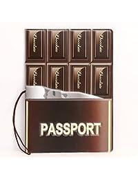 Ducomi® Funny Travel - Funda para pasaporte unisex con diseño de superhéroes y figuras - Funda protectora para pasaporte -Tamaño: 14 x 10 x 0,4 cm, multicolor